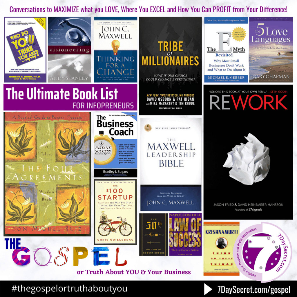 The Ultimate Book List For Infopreneurs